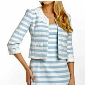NWT Lilly Pulitzer Nelle Striped Tweed Jacket